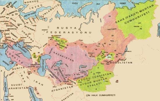 پراکندگی زبان ترکی در سطح جهان