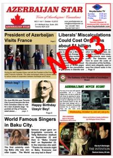 شماره سوّم روزنامه آزربایجان استار منتشر گردید!