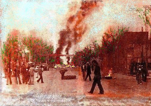 تظاهرات خیابانی در شهر مرکزی تورکمنصحرا-گنبدکاووس در سال 1358