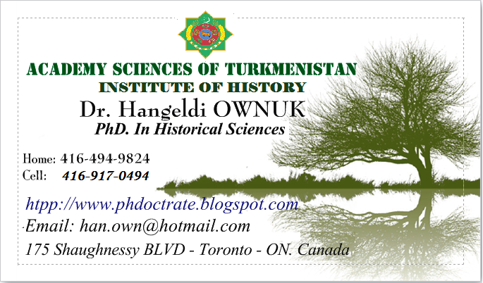 My PhD visit Card